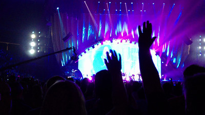 "( chorus ) "" IT'S JUST A SHOUT AWAY A SHOUT AWAY SHOUT AWAY !   !   !"" Play LOUDLY (volume set to max) Video: ""Gimmie Shelter(part II)"" by The Rolling Stones   50th anniversary show NJ 2012  Music © by The Rolling Stones"