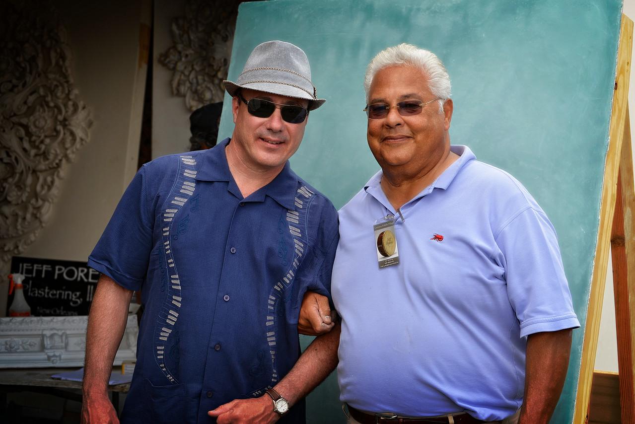 Me & Jeff Poree - Master Plaster - New Orleans Jazz festival - Historic Crafts People
