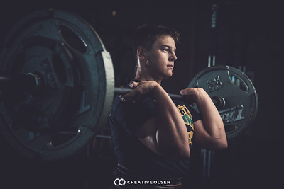 Tanner Huber Senior Photos Power Lifting
