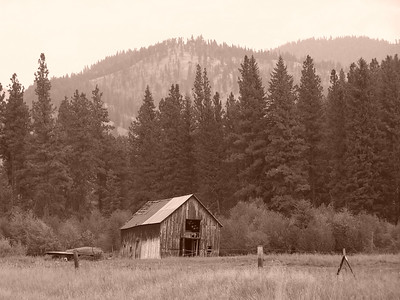 Old barn near Salmon, Idaho