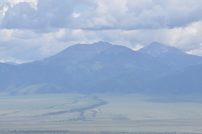 Mountains surrounding the Madison River valley near Ennis, Montana. 7.09