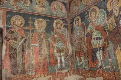 Frescos inside the Poganovo Monastery Church