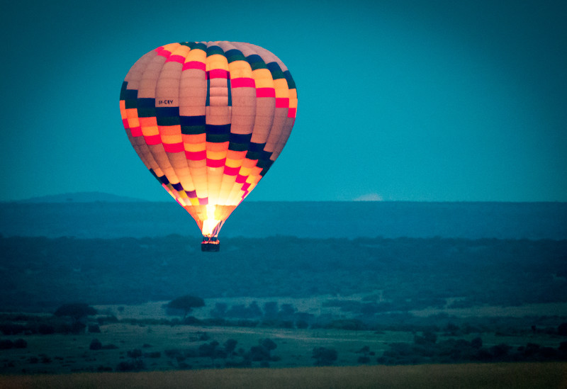 Balloon at Dawn, Masai Mara
