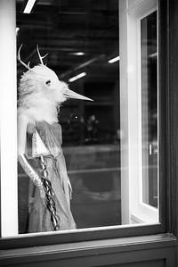 Bird Lady with Horns