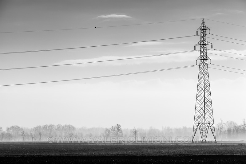 Power line  in the nearby of Sforzesca