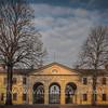 The gate  of Groppallo-Saporiti Villa. Sforzesca