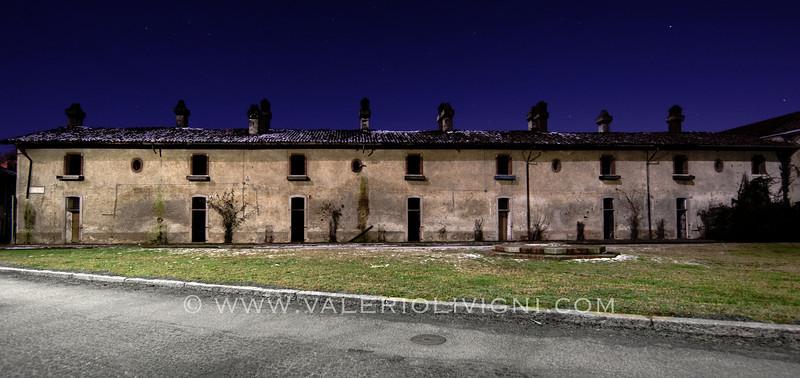 The Colombarone by night. Sforzesca