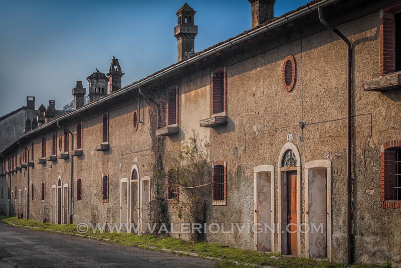 Traditional country-houses in  Via dei Fiori (Flowers Street). Sforzesca