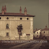 The Colombarone and the Casa Rotonda (round house) on the right. Sforzesca