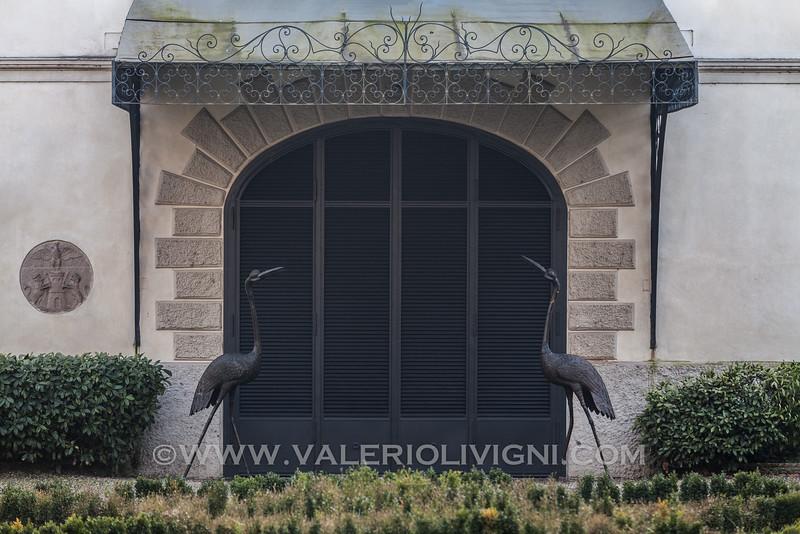 The entrance  of Groppallo-Saporiti Villa. Sforzesca