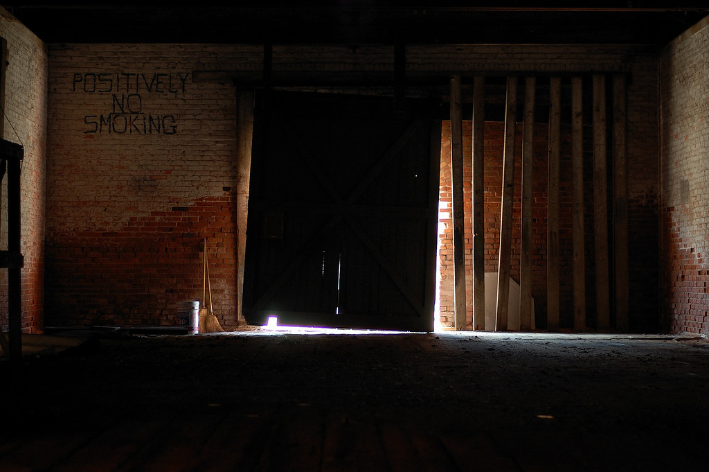 Inside the old railroad depot, Sparta, GA (Hancock County). 2008