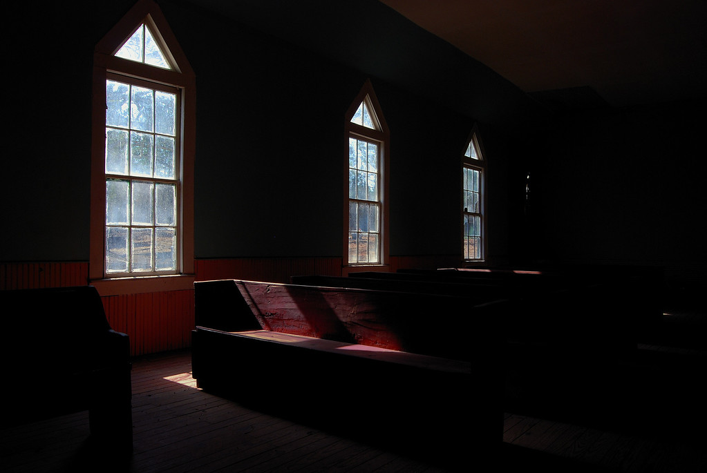 Inside the Antioch Baptist Church, Taliaferro County (GA). 2008
