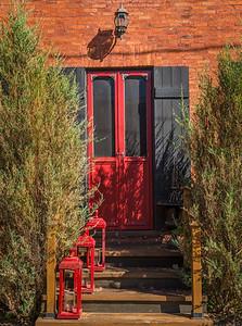 Red Door and Lanterns