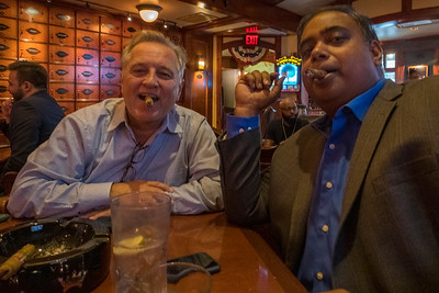 . . . Enjoying good cigars!