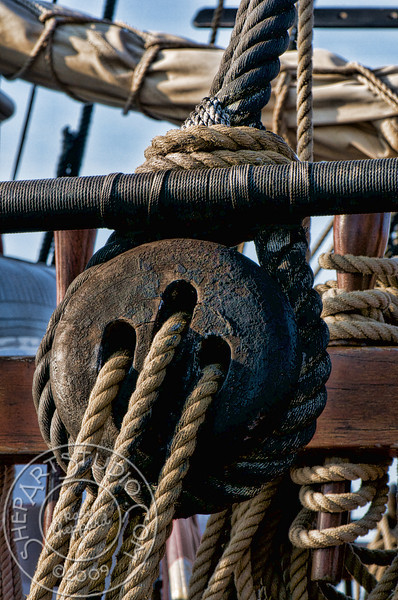 HMS Bounty, Rigging block