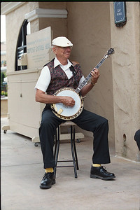 Banjo player at the Del Mar Race Track.