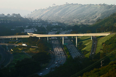 The La Jolla Overpass As It Crosses Interstate 5.