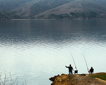 Fishing in Scripps Lake.