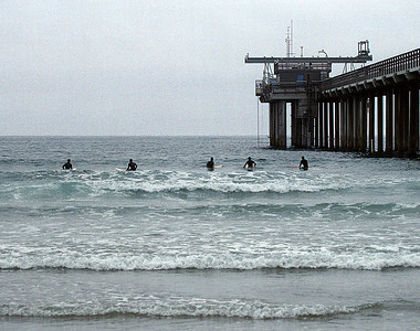 The pier off the Scripps Institution of Oceanography in La Jolla, California.