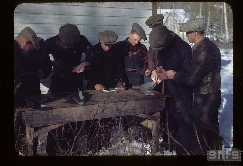 Tinsmithing- Under Joe Smith. Y-T-S. Kenosee.  11/27/1945