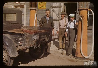 Co-op gas station Wellington Simpson - manager - Walter Linton & Mark Corbin.  Aneroid 08/21/1948