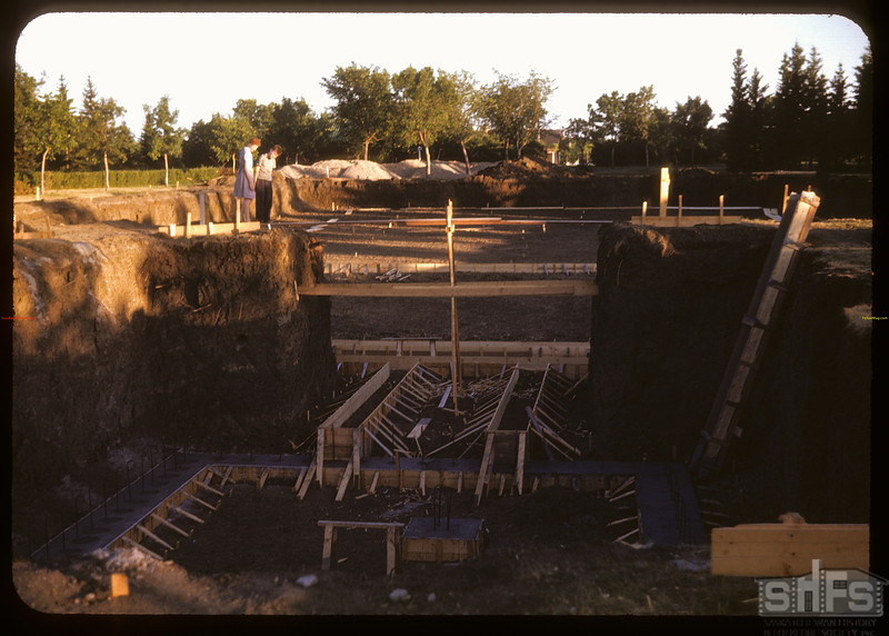 Foundations for Wascana swimming pool. Regina 08/01/1947