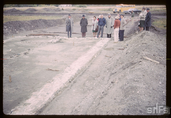 Concrete feeting. Fort Carleton. 09/12/1965