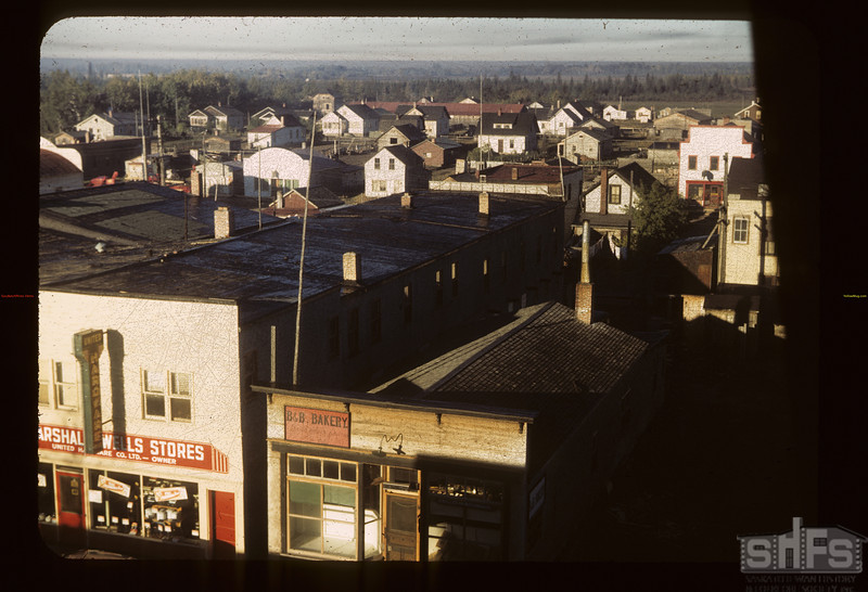 Looking west -south-wset from hotel. Hudson Bay. 09/22/1949