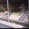 Moose Jaw co-op store fruit display - U. S. Co-op tour.	Moose Jaw. 08/09/1946