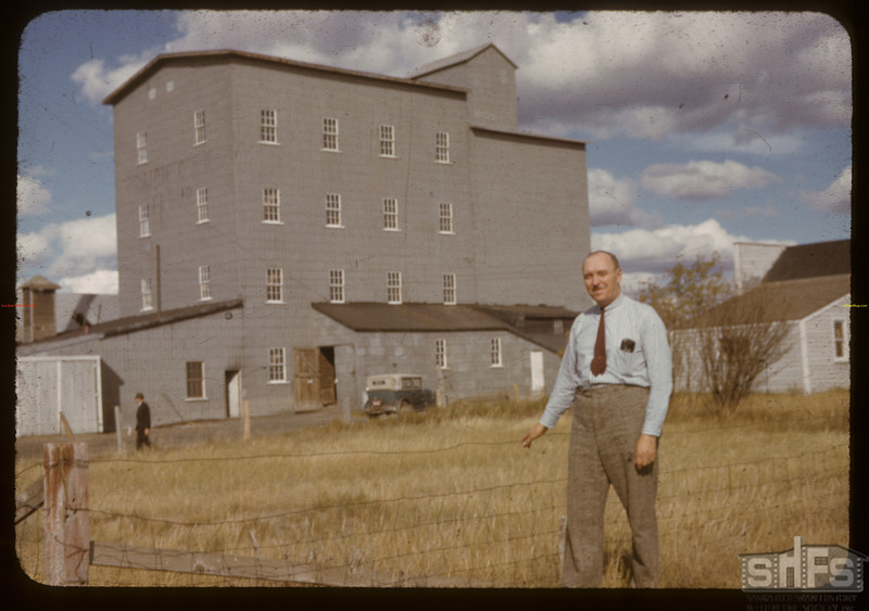 Co-op flour mill and manager C.A. Needham. Outlook. 09/14/1941