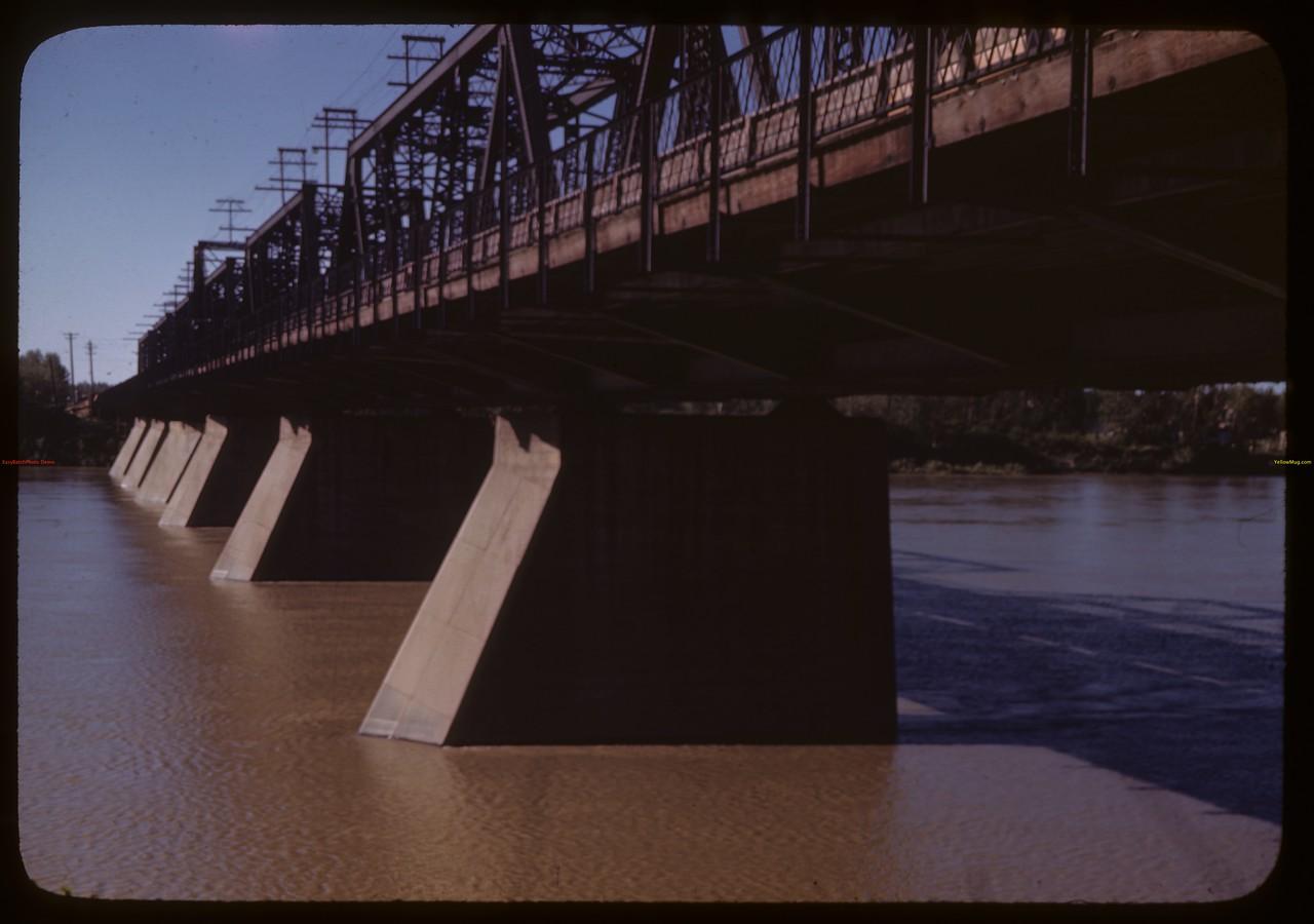Bridge crossing North Sask. River. Prince Albert  06/19/1946