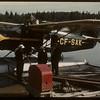 """Fueling pontoon plane the """"Good Ship"""" SAK. Prince Albert 06/21/1946"""