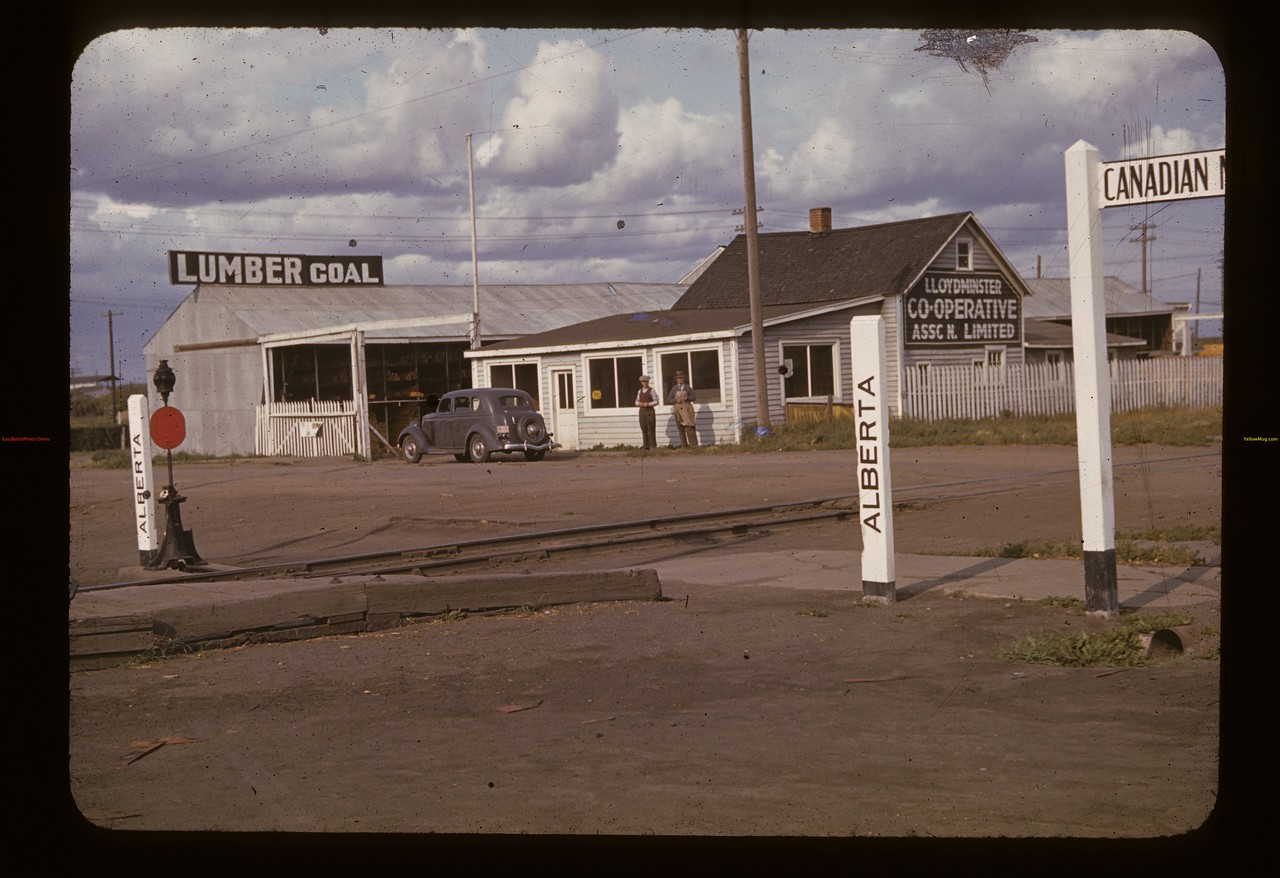 Co-op Lumber yard from Alberta. Lloydminster. 08/16/1940