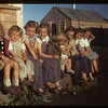 Juniors [children] in co-op farm construction camp. Carrot River. 07/18/1949