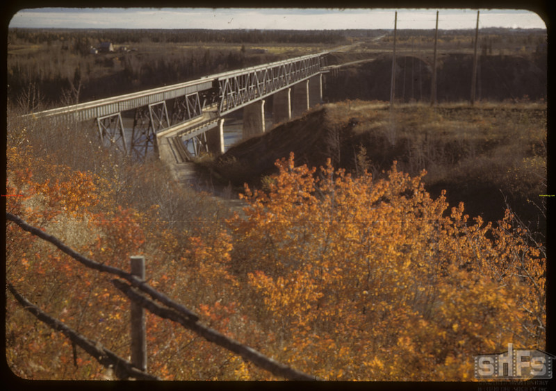 Bridge over Saskatchewan River. Nipawin. 10/07/1942
