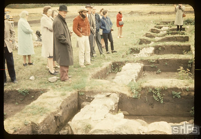 Archeological dig. Tony Ranere. Old Carleton House. Fort Carleton. 09/12/1965