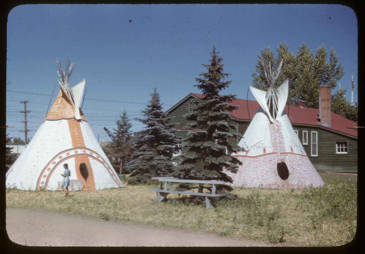 Indian Teepees - Regina Fair. Regina 08/01/1946