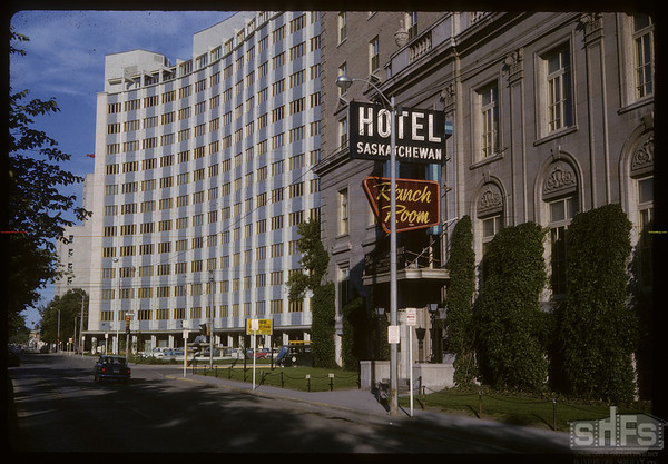 SPC [Sask Power] Building and Hotel Saskatchewan. Regina. 06/23/1964.