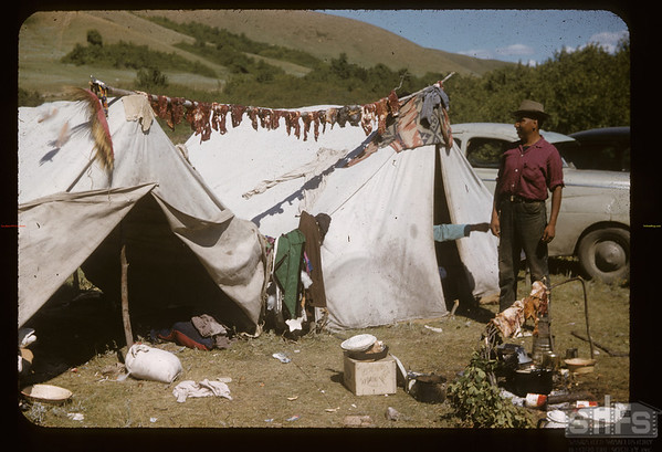 More meat for the Soiux pow wow - Orville Taylor from Griswold Manitoba. Fort Qu'Appelle. 08/18/1957