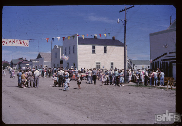Aneroid's Jubilee parade - Parade break-up. Aneroid. 07/06/1963