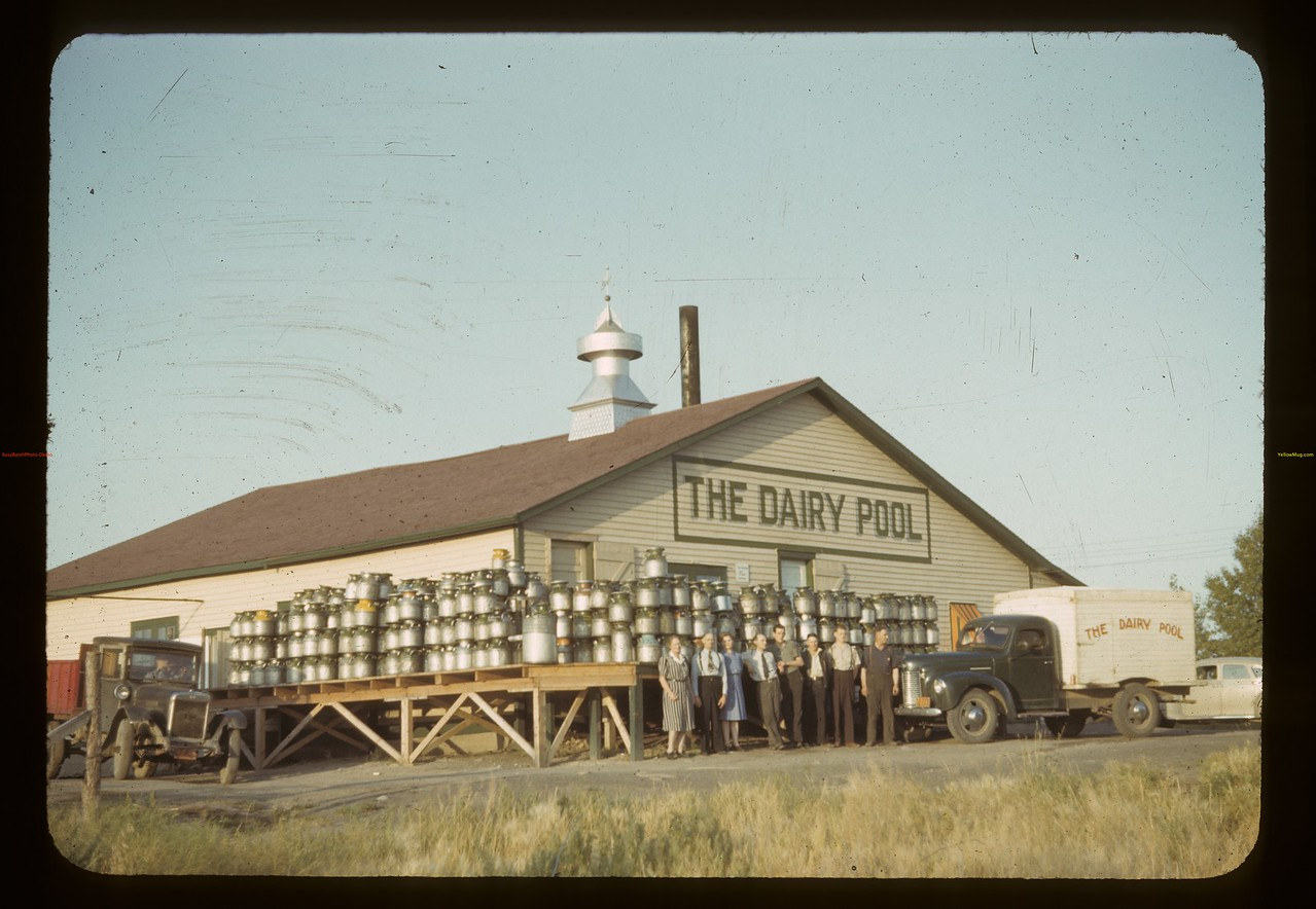 Dairy pool creamery and eggs. Biggar. 08/19/1942