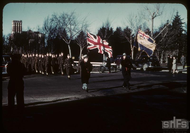 Armistice Day - Veterans march. Regina. 11/11/1943.