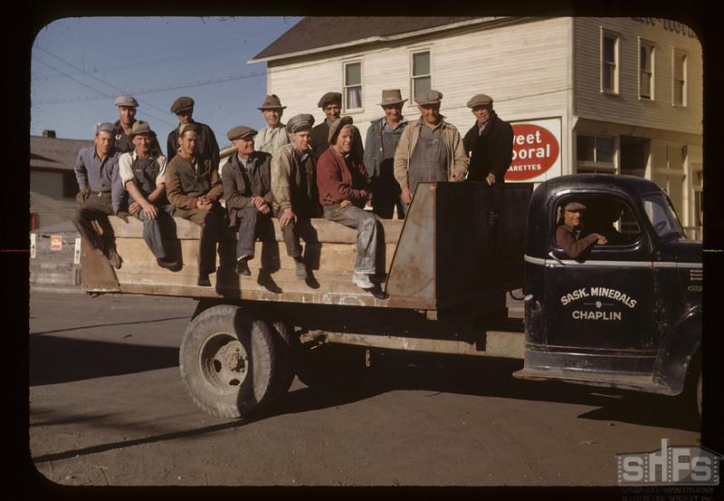 Men of the Chaplin Sodium Sulphate plant. Chaplin. 05/28/1948