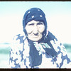 Wambi-Sun-Win (Eagle Plome) also known as Mrs. Julia Lethbridge - last of Sitting Bull refugees who crossed the border in 1876.  Picture published in Trails and Traces.	 Wood Mountain.	 08/07/1954
