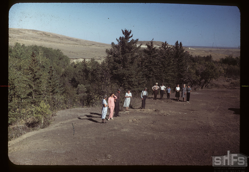 Chimney Coulee - NWMP post here before 1878.	 Eastend. 08/14/1949