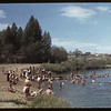 Co-op school at Swift Current swimming hole  [Elmwood Park].	 Swift Current.	 07/09/1949