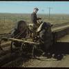 Crude oil and gravel mix - west of Shaunavon. Shaunavon. 10/20/1954