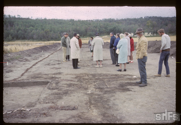 Palisade Line & Bastion Corners. Fort Carleton. 09/12/1965