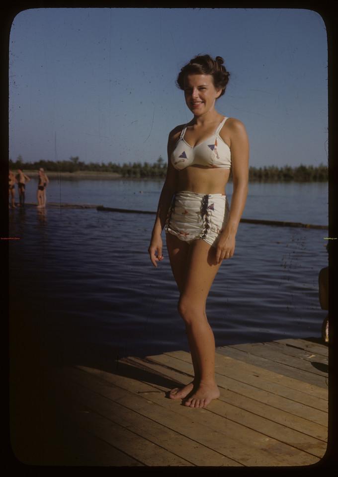 Elaine Stewart at Regina Boat Club. Regina 07/26/1946