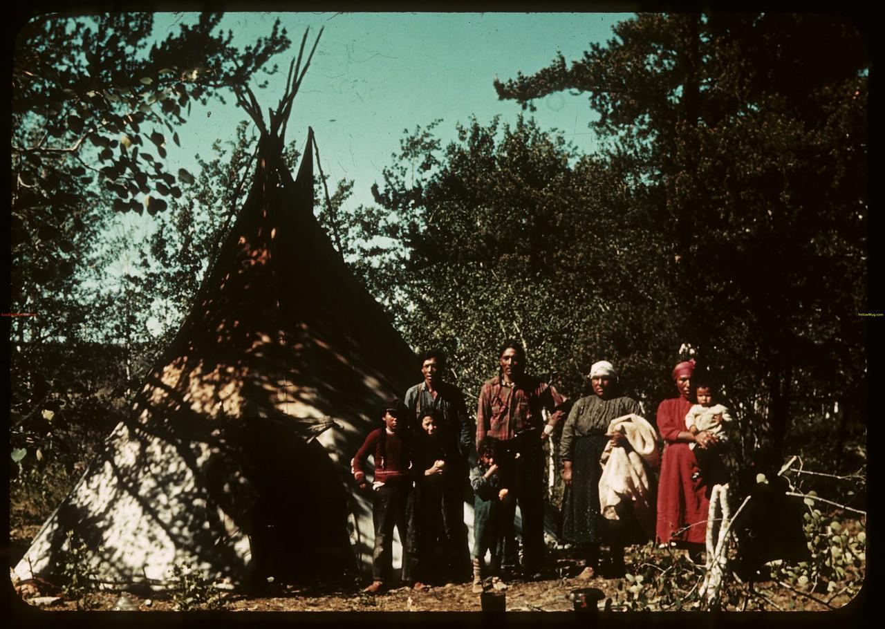 Indians 4 miles north of Waterhen bridge Hugo & Haas. Waterhen. 06/18/1940